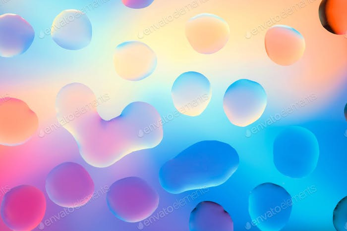 water drops with colorful background