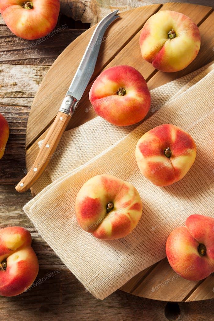 Raw Organic Donut Saturn Peaches