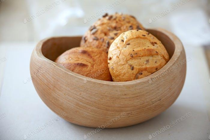 verschiedene Brotbrötchen