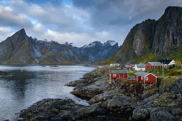 Norwegian Fishing village, Hamnoy island, Reine, Lofoten, Northern Norway