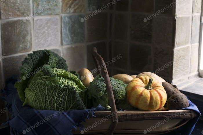 Winter Vegetables in Trug