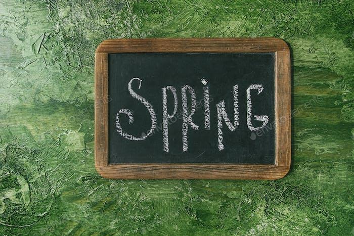 Calligraphic inscription spring