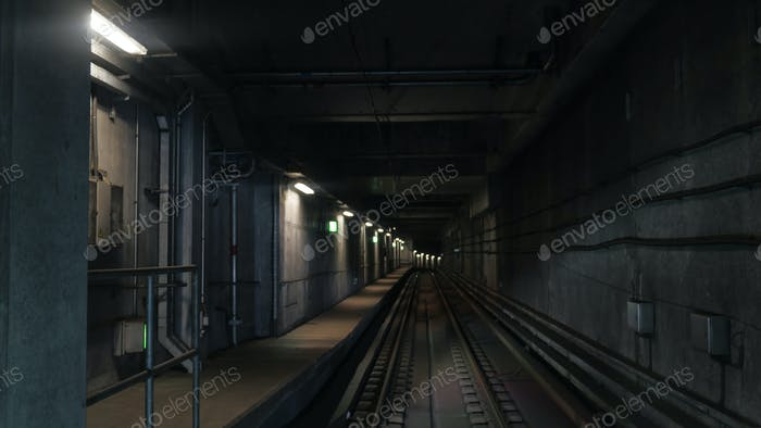 View on subway rails