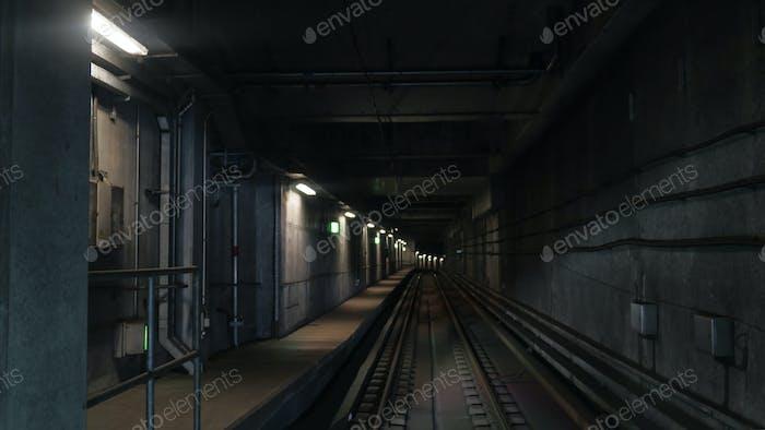 View on subway rails