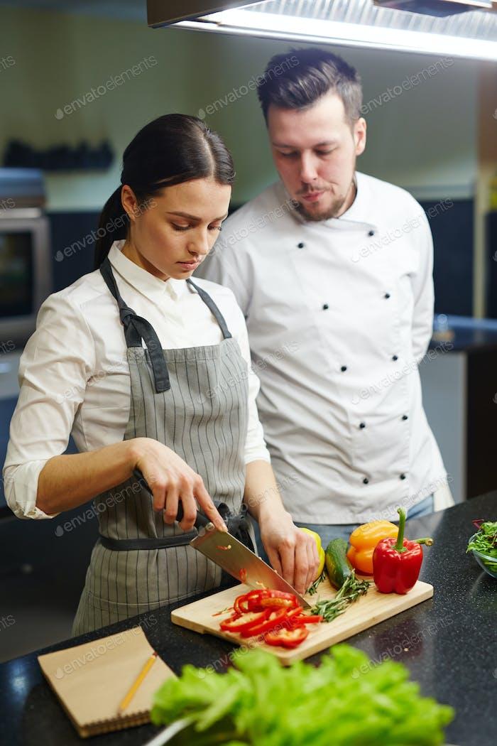 Salat kochen