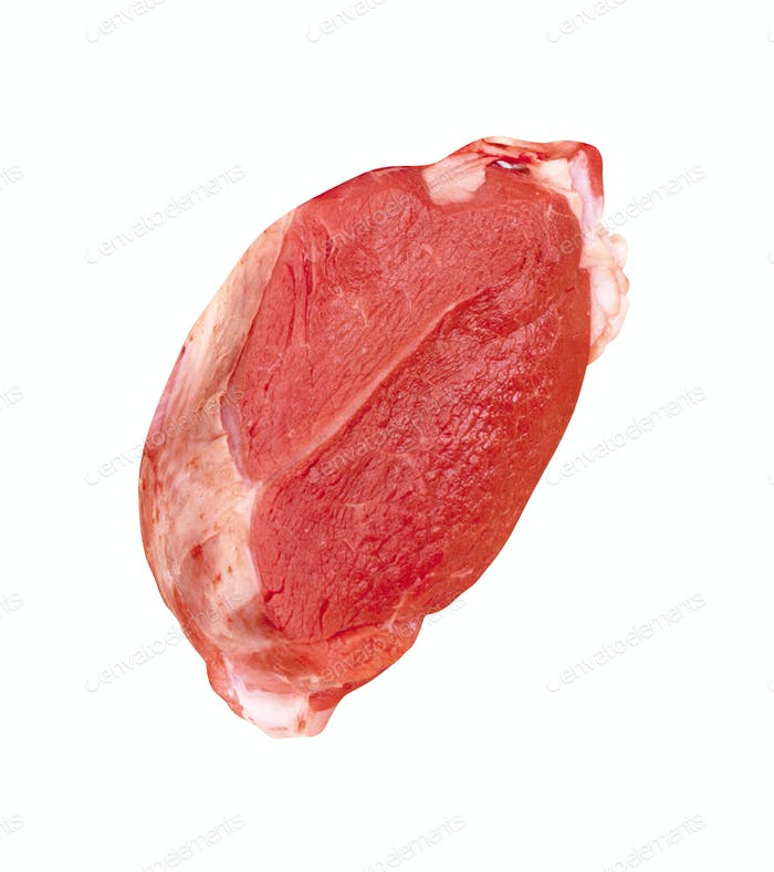 beef meat isolated on white