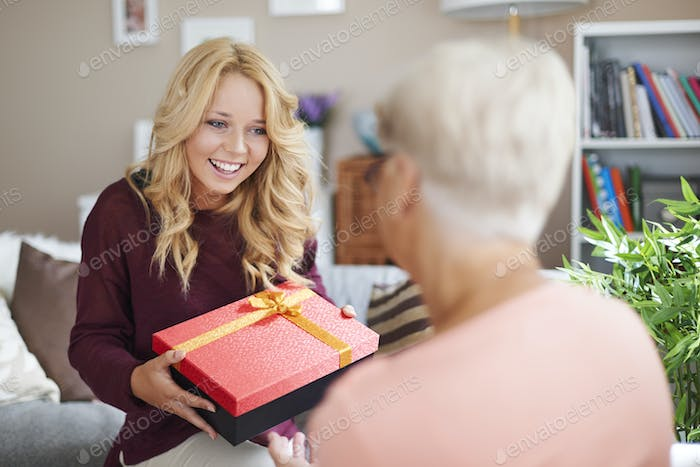 Grandma, it's your day so I have gift for you!
