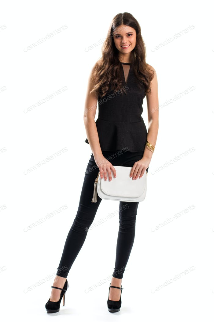 Lady in black blouse smiling
