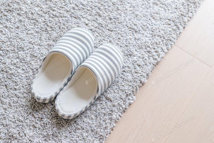 Slipper on carpet