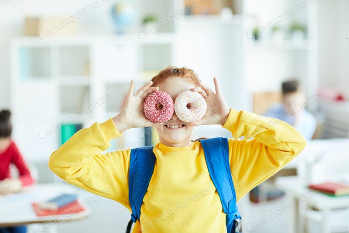 Child with donuts