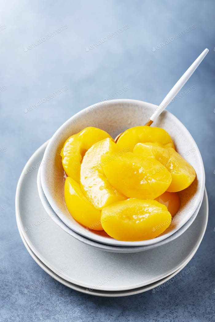 Sweet canned peaches