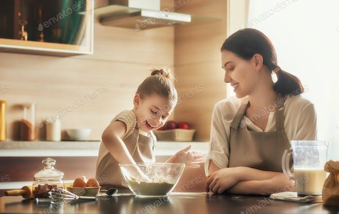 Homemade food and little helper.