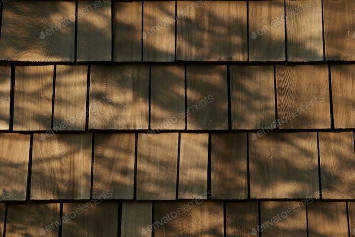 Hintergrund aus Holz Ziegeldach