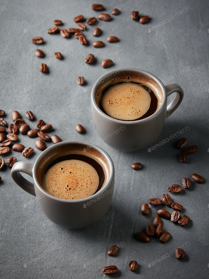 two cups of coffee