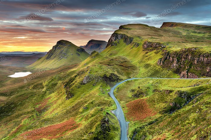 Autumn sunrise at the Quiraing
