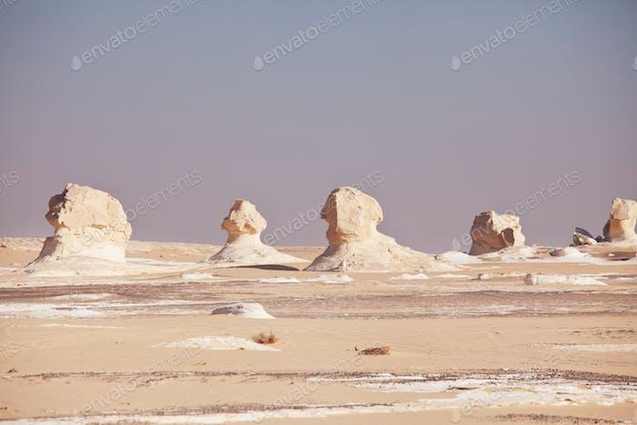 White desert in Egypt