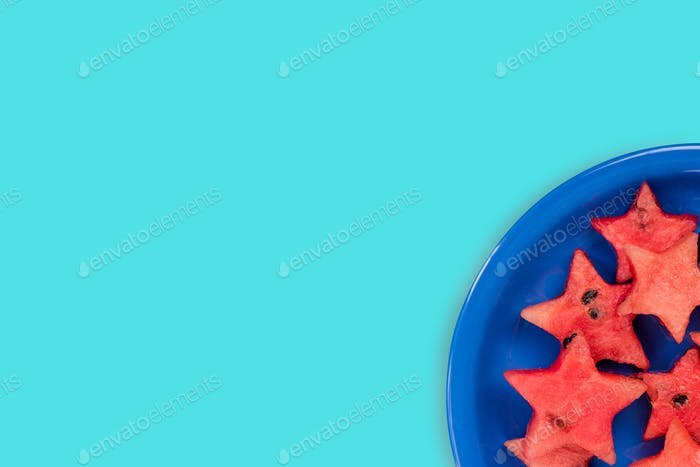 Watermelon creative star pieces