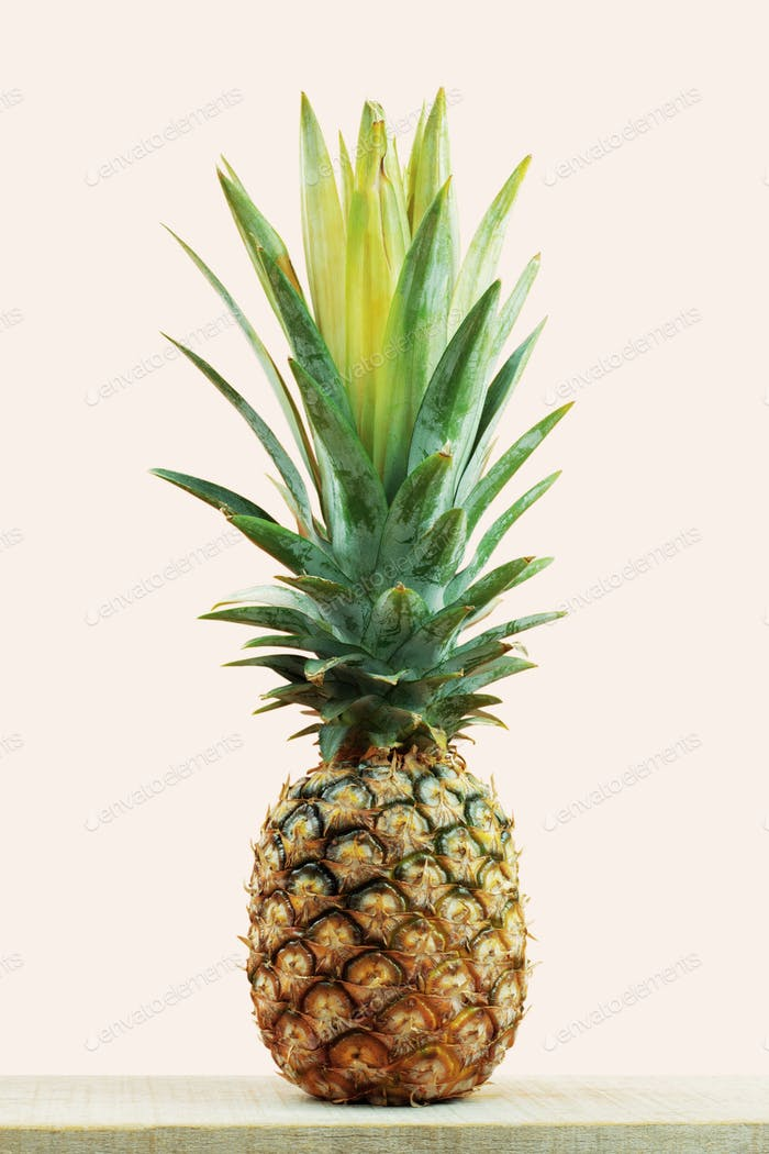 Pineapple fresh on wooden