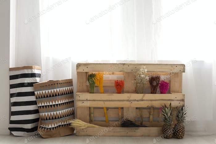 Pallet with plants