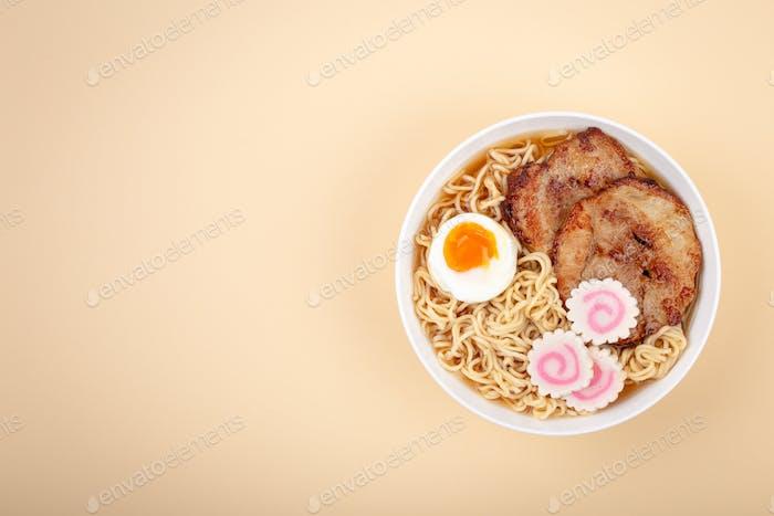Japanese noodle soup ramen