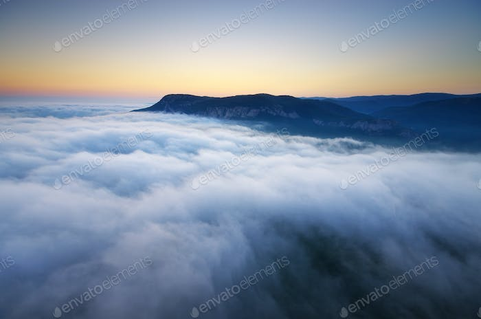 Fog in mountain
