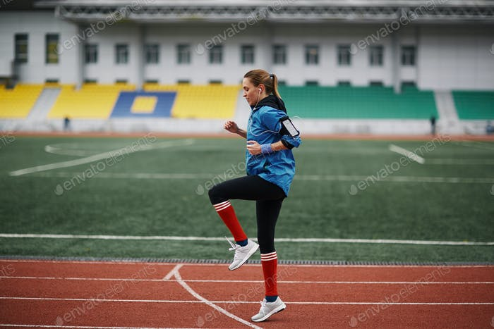 Warming up before running