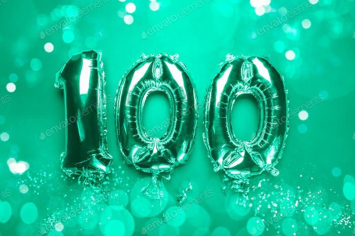 Ballon Wimpelkette zum Feier Happy 100. Jahrestag