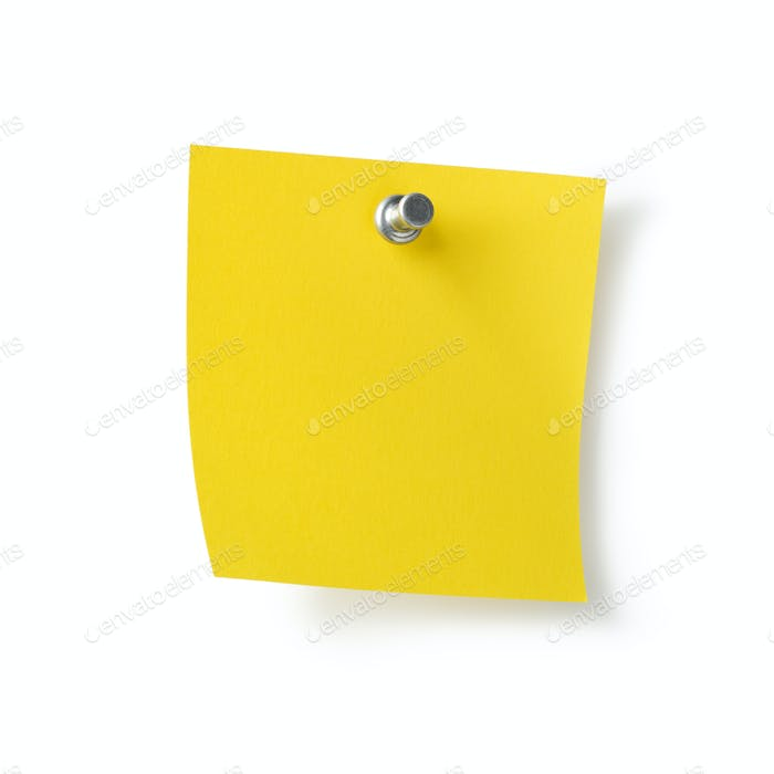 Empty paper post it note
