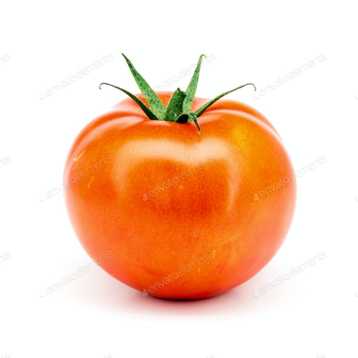 Tomate isoliert auf weißem Hintergrund