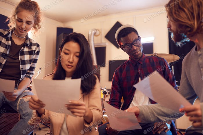Young People Writing Music