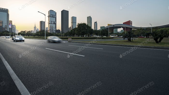 Asphalt pavement urban road
