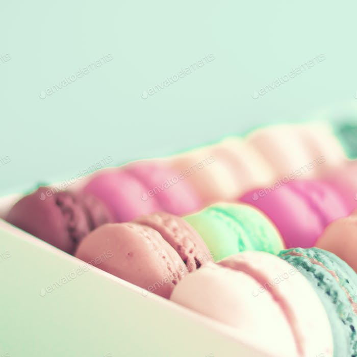 Macaroons, Parisian and colorful