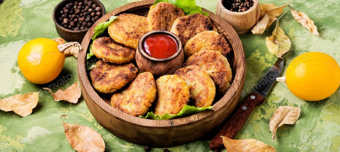 Diet vegetable pumpkin cutlet