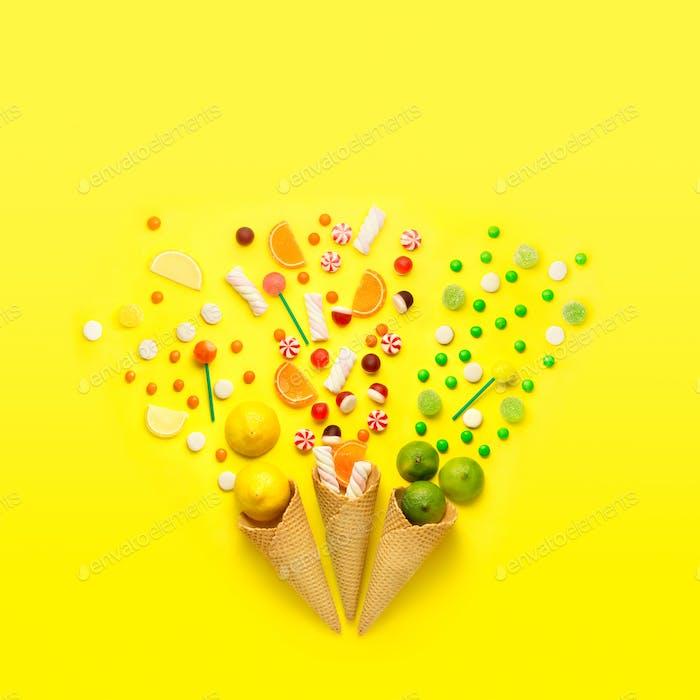 Süßigkeiten Feuerwerk.