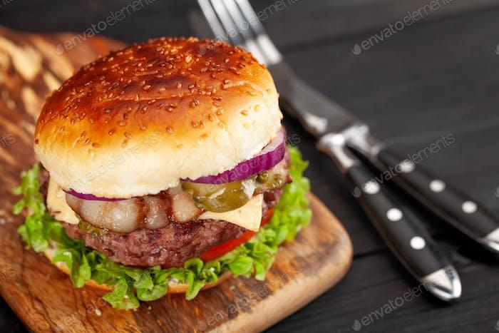 Homemade tasty burger