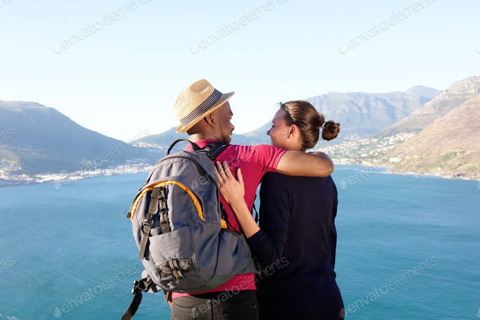 Affectionate young couple on holiday