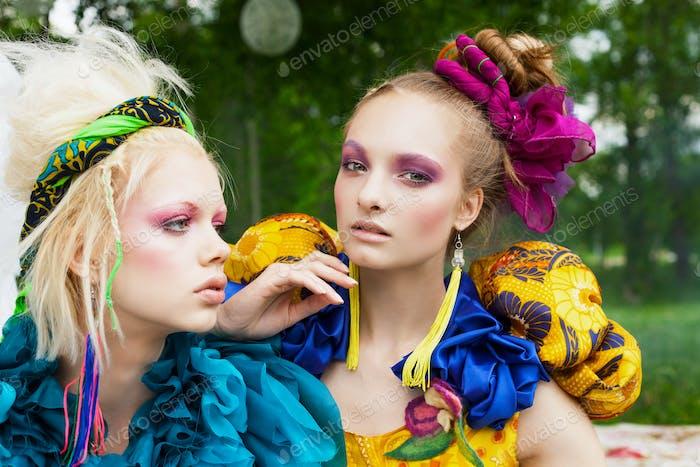 Two beautiful ladies