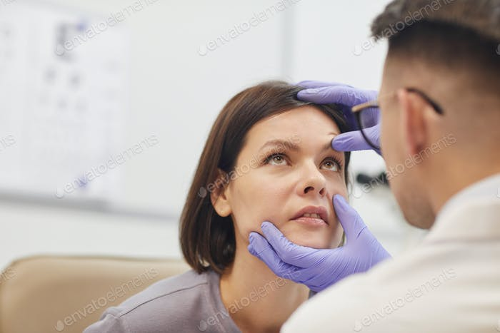 Ophthalmologist Examining Eyes