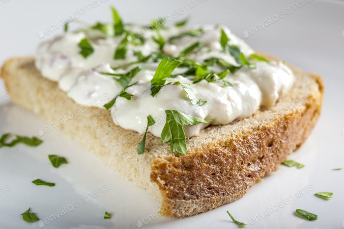 Appetizer made from horseradish, sour cream and mayonnaise