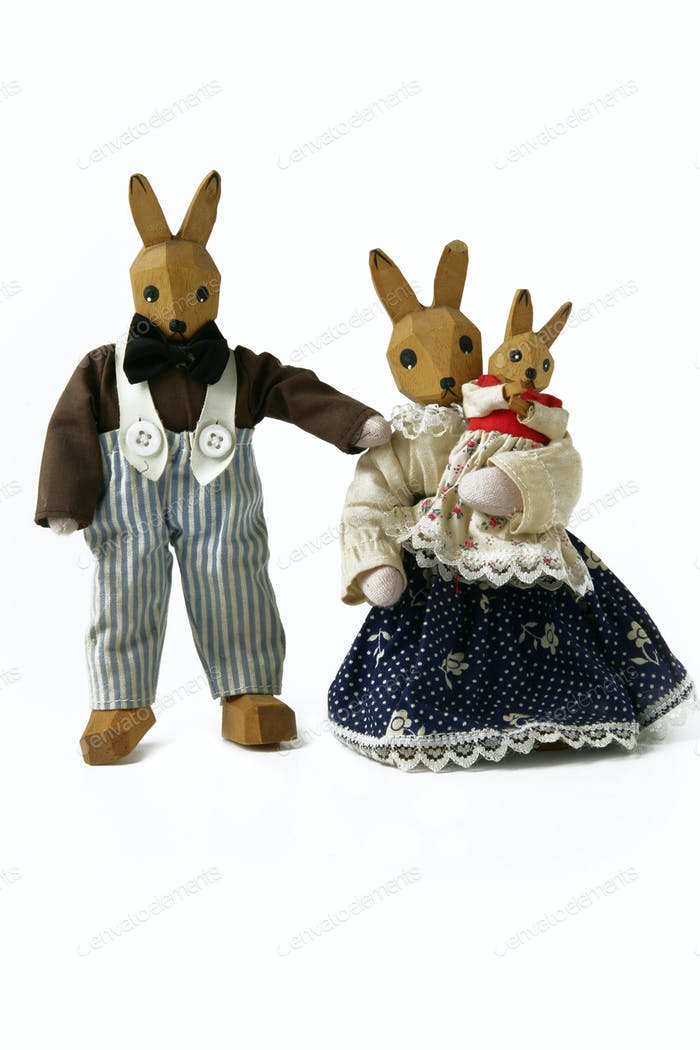 Toy rabbit family