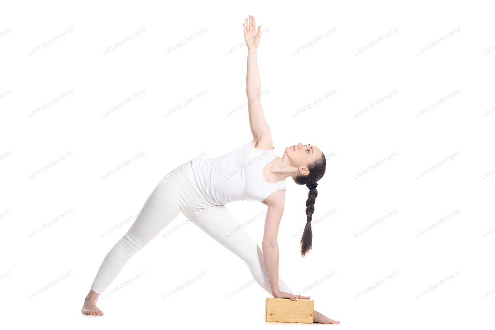 Triangle Pose With Props