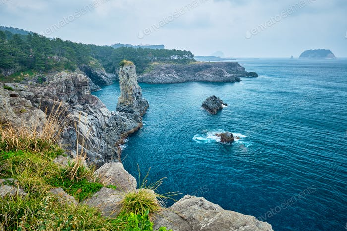 Oedolgae Rock, Jeju island, Südkorea