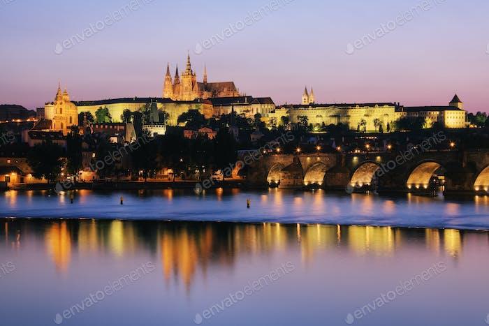 Prague Castle on the Riverbank