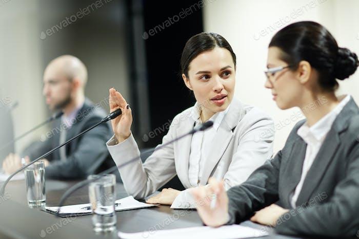 Discussing speech
