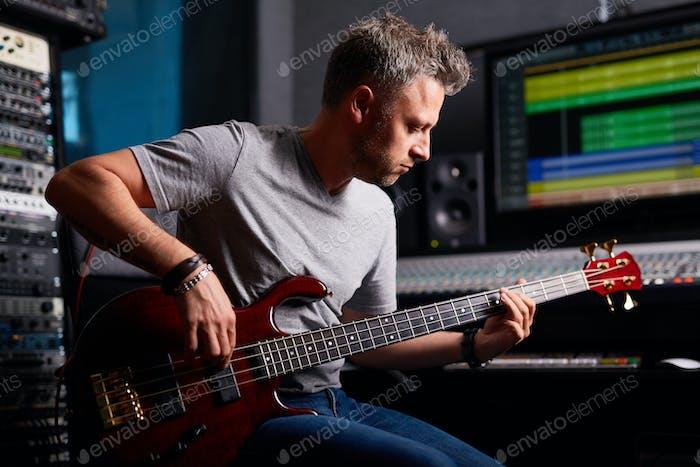 Musician in studio