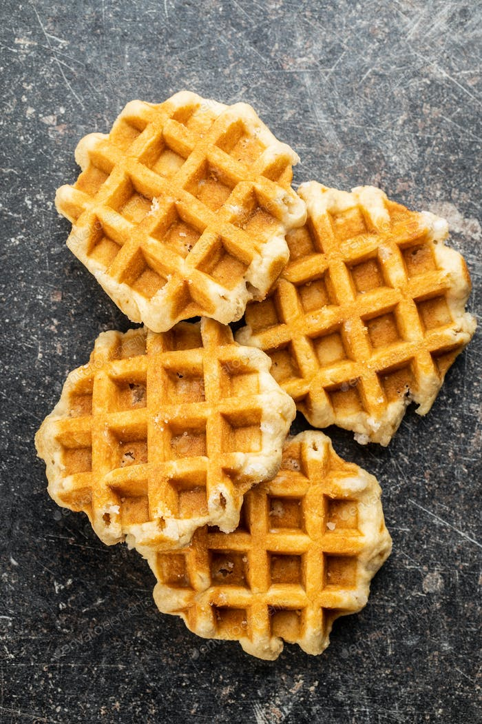 Tasty sweet waffles.