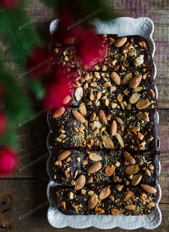 Brownies Mit Kaffee Und Mandeln