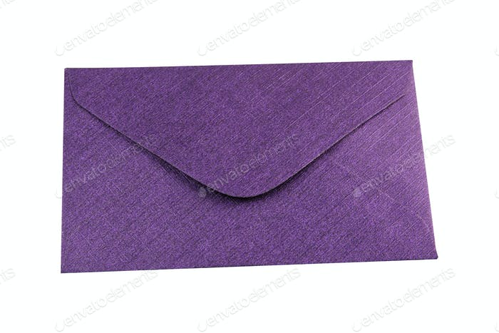 Purple envelope on a white background