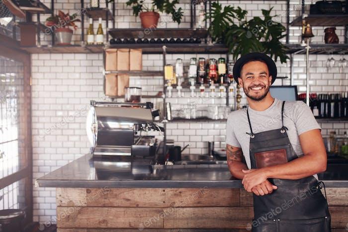 Lokaler Coffeeshop-Besitzer