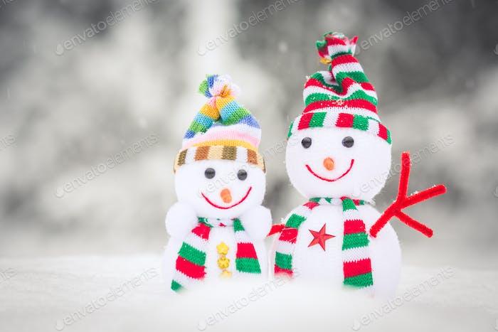 Snowman Toy Family